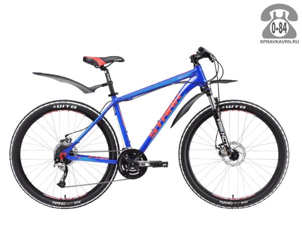 """Велосипед Старк (Stark) Tactic 27.5 D (2017) размер рамы 18.5"""" синий"""