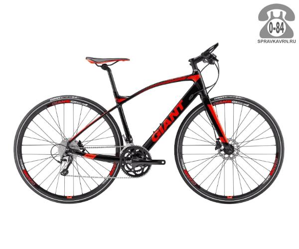 """Велосипед Джайнт (Giant) FastRoad SLR 1 (2017), рама 20"""" размер рамы 20"""" черный"""