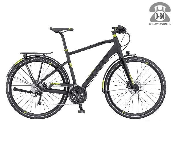 "Велосипед Скотт (Scott) Sub Evo 20 (2016), рама 18.5"" размер рамы 18.5"" черный"