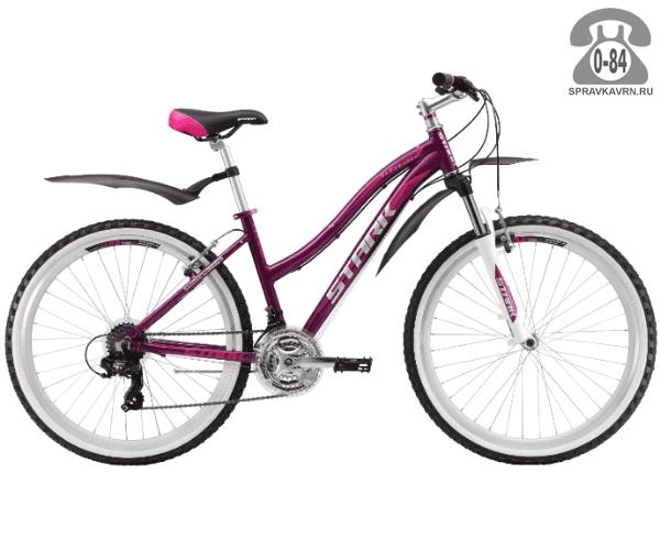 """Велосипед Старк (Stark) Luna 26.2 V (2017), рама 18.5"""" размер рамы 18.5"""" красный"""
