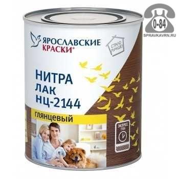 Лак Ярославские краски НЦ-2144 2,7 кг мебельный банка