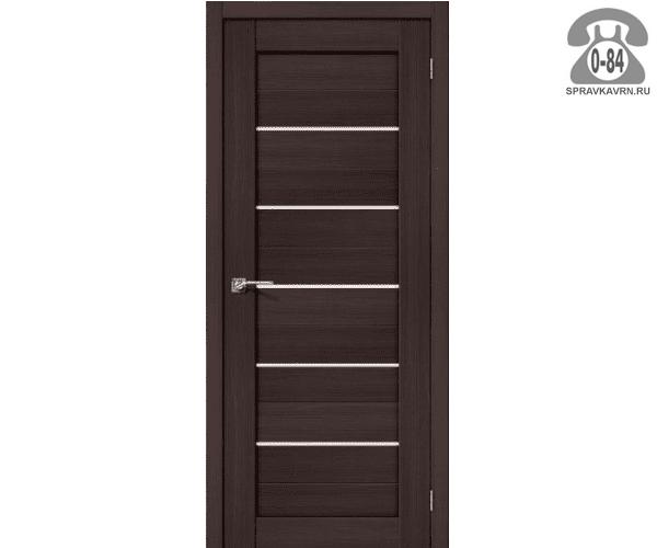 Межкомнатная деревянная дверь ЭльПорта, фабрика (el PORTA) Порта-22 Magic Fog остеклённая 60 см Венге Вералинга (Wenge Veralinga)