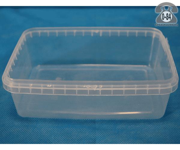 Контейнер пищевой Стиролпласт пластмассовый (пластиковый, полипропиленовый) 1.5 л прямоугольная для СВЧ-печи с крышкой г. Москва