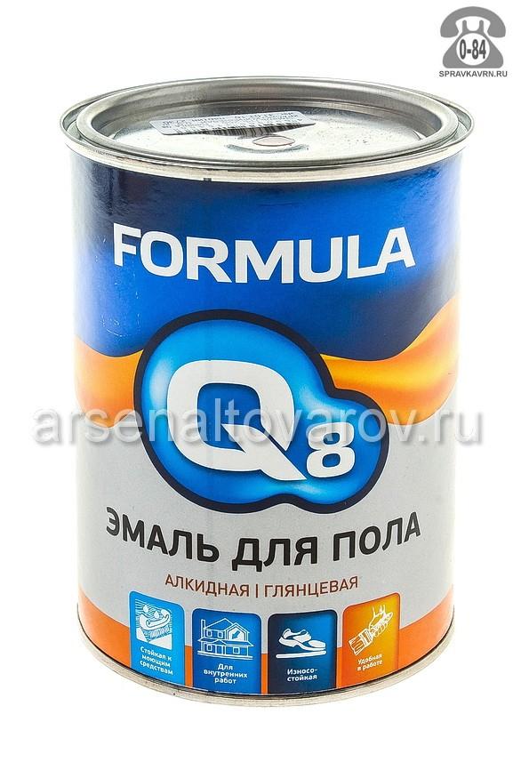 Краска Формула Q8 (Formula) ПФ-266 0.9 кг глянцевая красно-коричневая