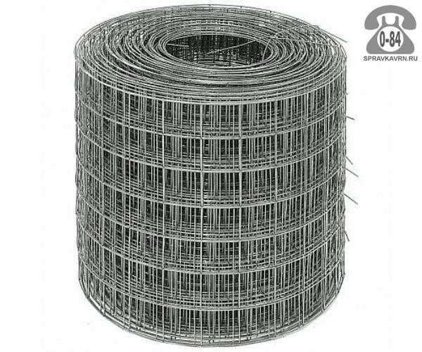 Строительная сетка диаметр 1.6мм  ячейка 50x50мм ширина 0.35м
